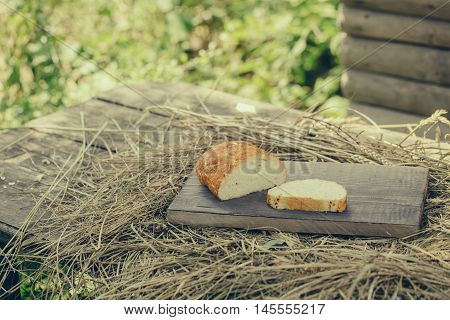 Loaf Of Wheat Bread And Slice