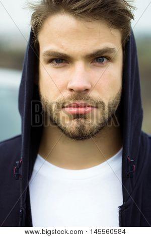 Bearded Man In Hood