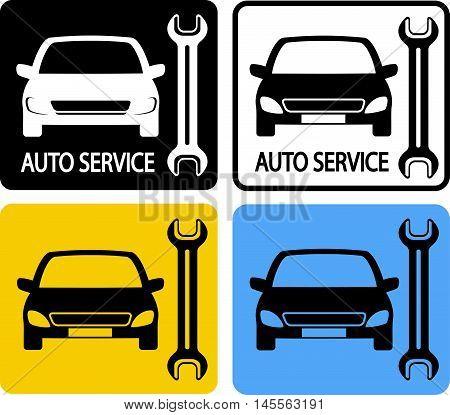 Set Of Auto Service Icons