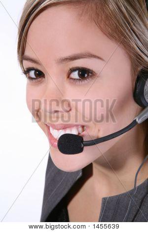 Pretty Customer Service Woman