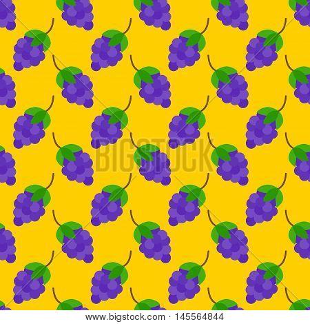 Grapes Flat Seamless Pattern
