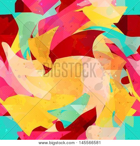 Graffiti psychedelic abstract seamless background vector illustration abstract high quality
