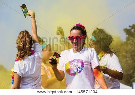 Thousands Of People Take Part In The Color Run