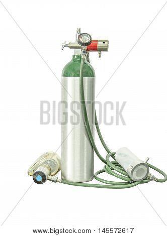 medical oxygen cylinder portable add clipping path