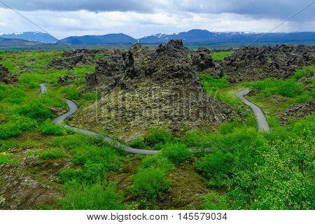 Dimmuborgir Volcanic Area