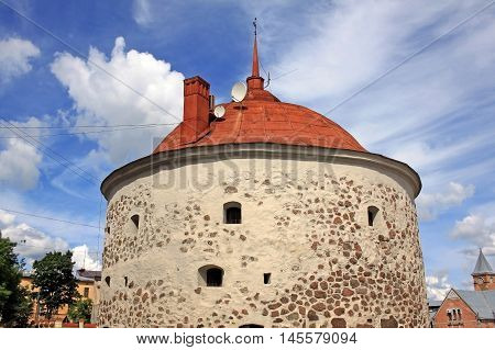 Round Tower is a fortification at the market square of Vyborg Russia. It was built in 1547-1550 by the order of Gustav I of Sweden as a part of the medieval town wall