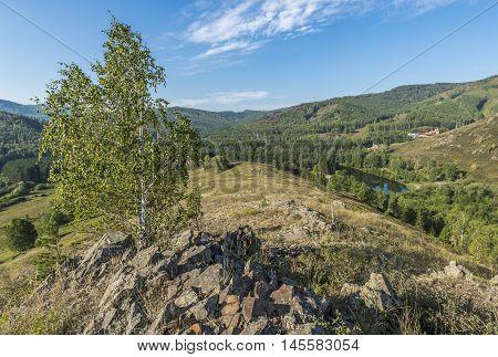 Republic of Bashkortostan Russia. Ural Mountains in summer.