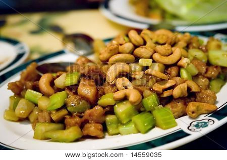 Plate of Kung Pow chicken