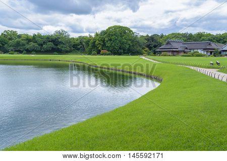 Korakuen Japanese garden in Okayama Japan (Summer season)