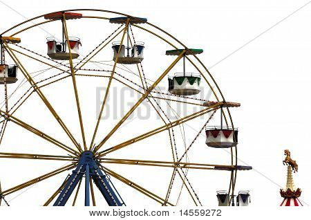 Ferris Wheel In Amusement Park