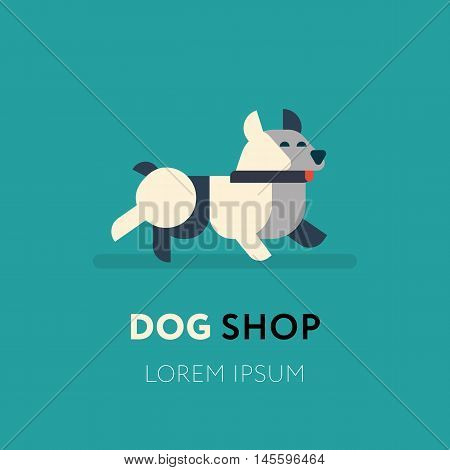 Dog Logo Abstract Design