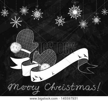Christmas And New Year Grunge Background