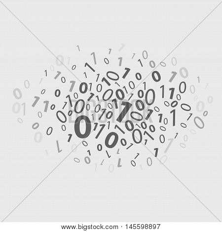 Binary Code With Abstract Information On White Background