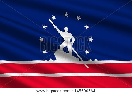 Flag of Richmond is the capital of Virginia United States. 3D illustration