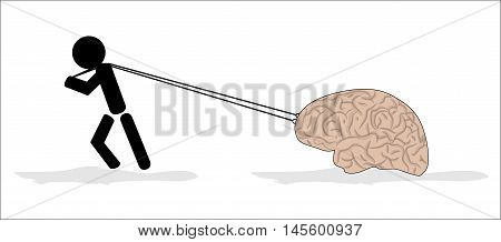 You never attrition of brain, vector illustration