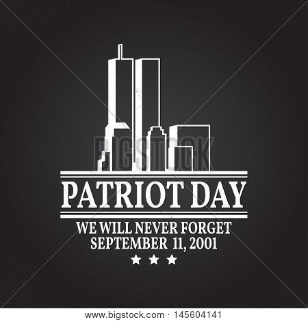 Patriot Day Vintage Design.