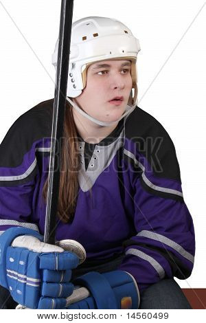 Teen Male Hockey Player