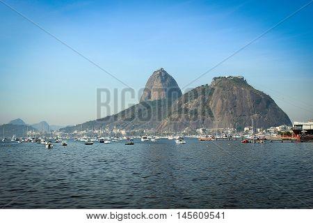 View on Sugarloaf (Pao de Acucar) from Botafogo, Rio de Janeiro, Brazil