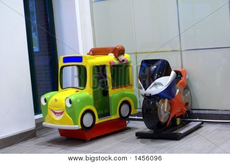 Car & Motorcycle From Plastic For Children To Ride.