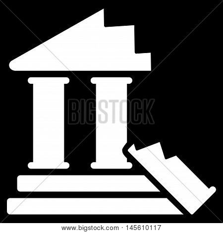 Historic Ruins icon. Vector style is flat iconic symbol white color black background.