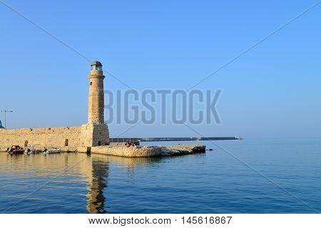 Rethymno city Greece light house landmark architecture