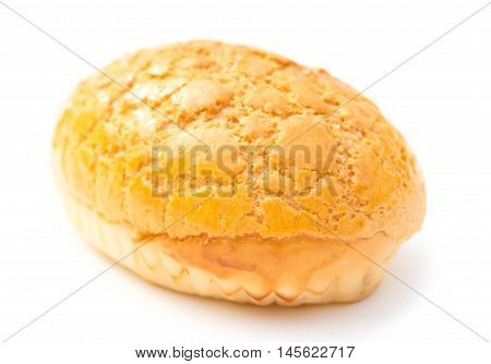 a sweet bread on a white background