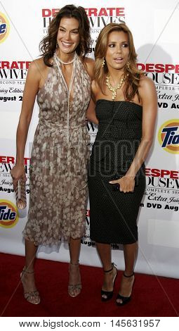 Teri Hatcher and Eva Longoria at the 'Desperate Housewives: Season 2 - Extra Juicy Edition' DVD Launch Event held at the Universal Studios in Universal City, USA on August 5, 2006.