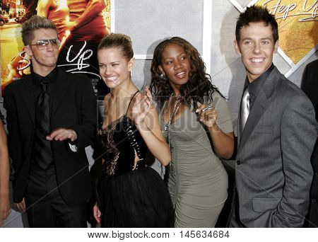 Travis Wall, Heidi Groskreutz, Donyelle Jones and Benji Schwimmer at the Los Angeles premiere of 'Step Up' held at the Arclight Cinemas in Hollywood, USA on August 7, 2006.