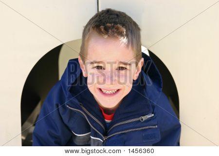 Boy Smiling Having Fun