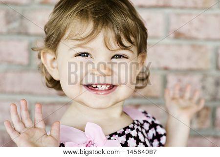 Adorable Little Girl Very Expressive Face