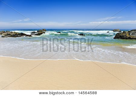 Open beach on a tropical island