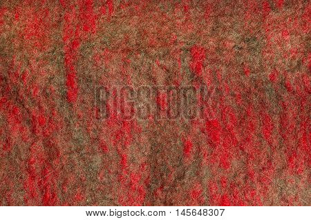 Background from natural merino wool felted closeup