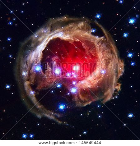 V838 Monocerotis Is A Red Star In The Constellation Monoceros.