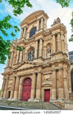 St-gervais-et-st-protais Church Of Paris Located On Place Saint-gervais In The Marais District, East