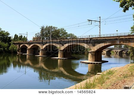 Bridge For Trains Near Beziers In France