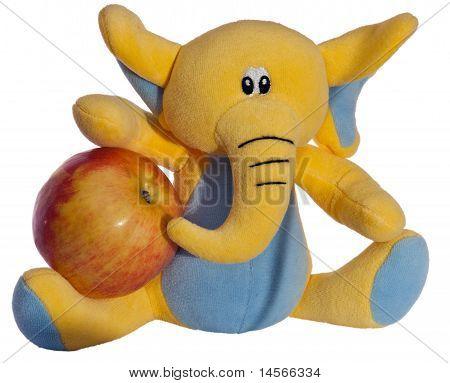 elephant and apple