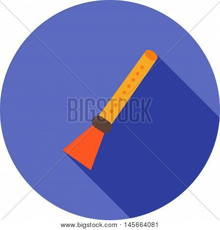Flute, recorder, musical icon vector image. Can also be used for music. Suitable for web apps, mobile apps and print media.