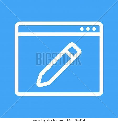 Website, online, webpage icon vector image. Can also be used for web. Suitable for mobile apps, web apps and print media.