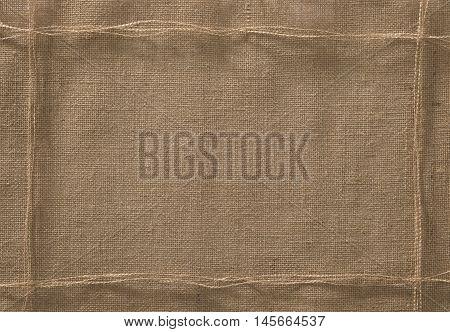 Burlap Fabric Frame Background Sack Cloth Rope Lint Thread