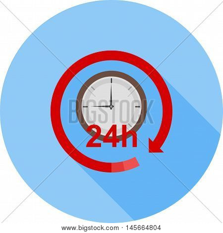 Work, hours, support icon vector image. Can also be used for customer services. Suitable for web apps, mobile apps and print media.