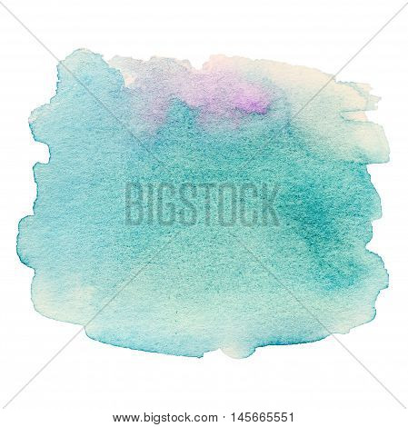 Watercolor Hand Painted Background. Wet Watercolor Wash. Abstract Water-color Background. Ombre Watercolour Backdrop stain drop