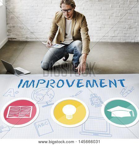 Improvement Development Enhance Refine Growth Motivation Concept