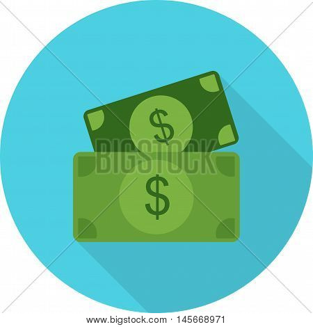 Money, cash, dollar icon vector image.Can also be used for shopping. Suitable for mobile apps, web apps and print media.