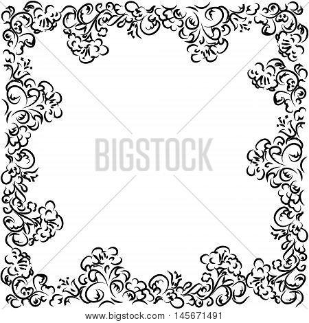 Frame Decorative Ornament , Calligraphic Design Elements, Vector Illustration