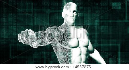 Internet Security and Protection Software Solutions Art 3D Illustration Render