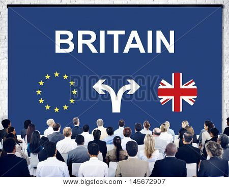 Brexit Bremain UK EU Referendum Concept