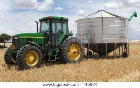 Farm - Tractor And Silo