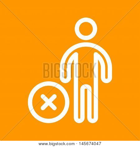 User, remove, cancel icon vector image. Can also be used for people. Suitable for use on web apps, mobile apps and print media.