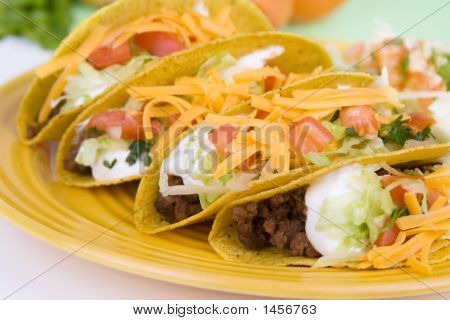 Four Beef Tacos