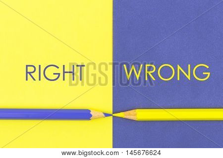 Right Versus Wrong Contrast Concept